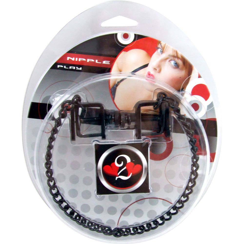 H2H Nipple Clamps Press with Chain Black - View #1