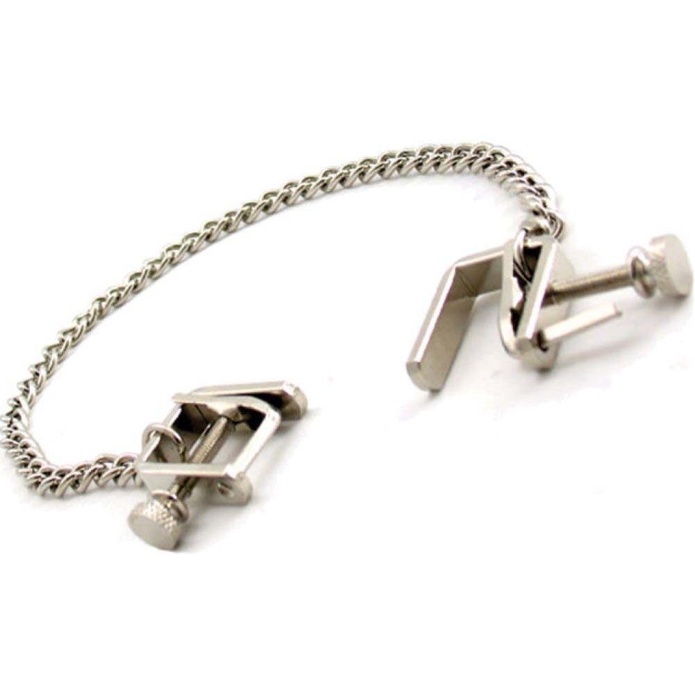 Heart 2 Heart Press Nipple Clamps with Chain Chrome - View #3