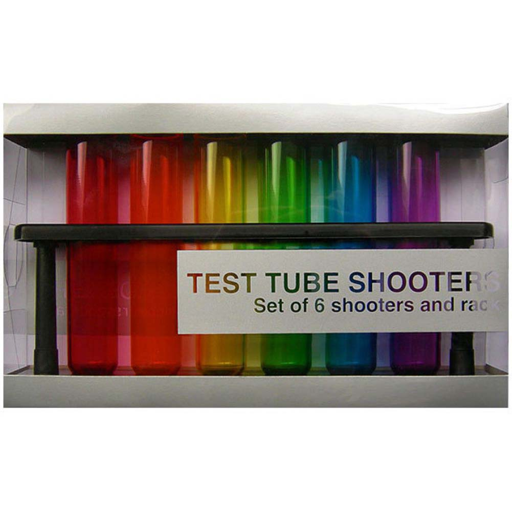 Test Tube Shooters 6 Piece Set with Rack - View #1