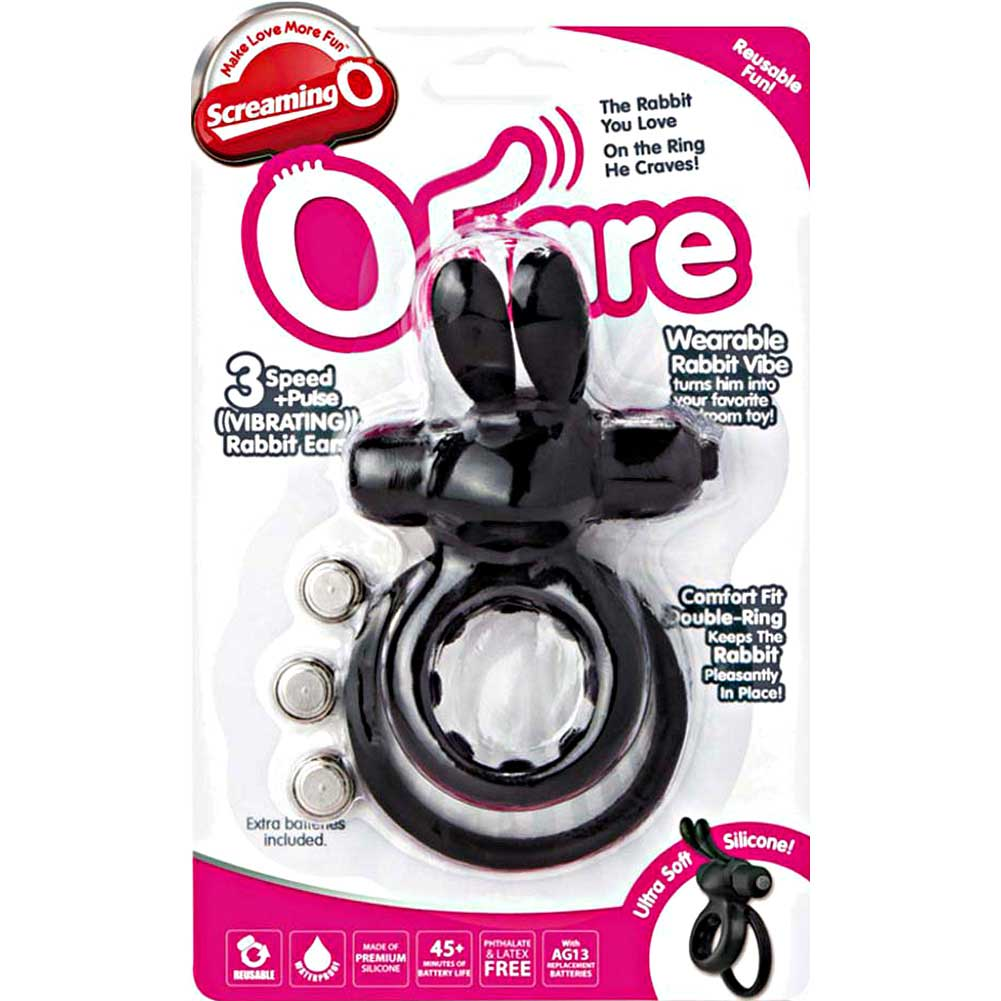 Screaming O Ohare Wearable Rabbit Vibe One Size Black - View #4