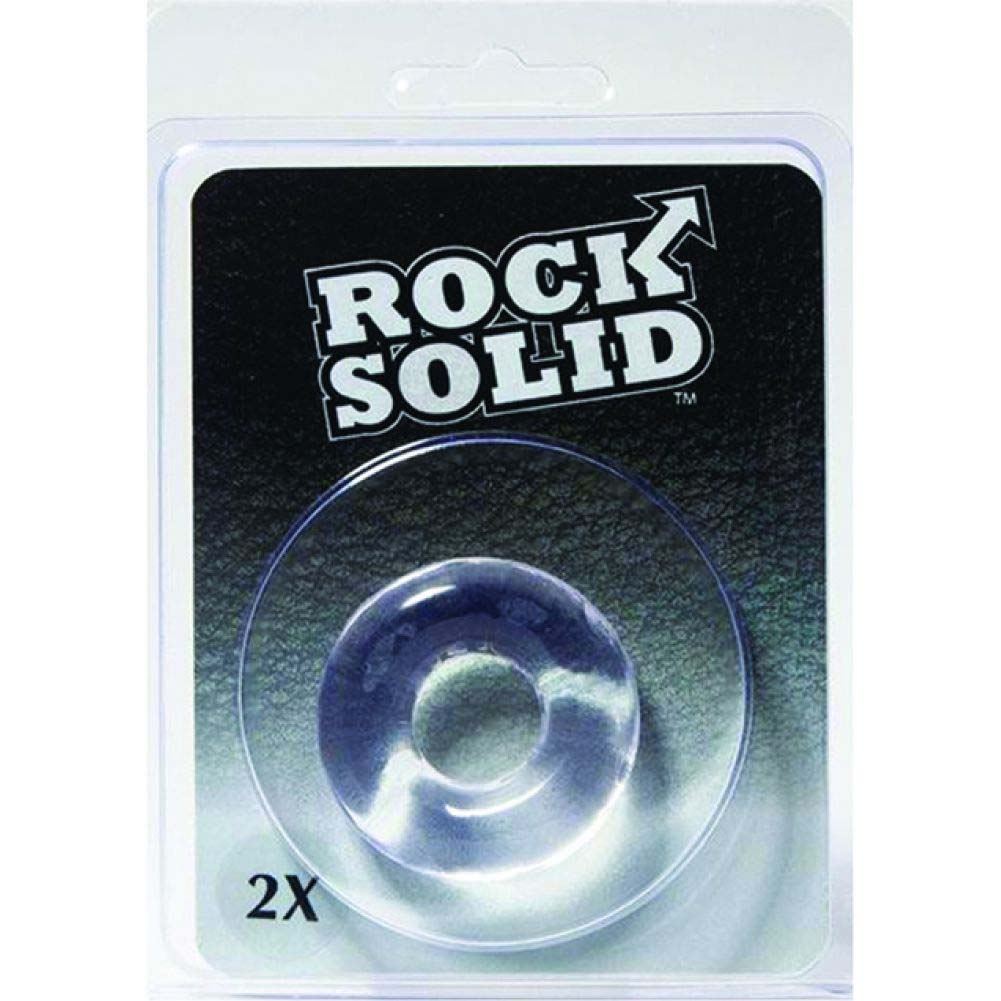 """Rock Solid 2"""" Clear Donut Ring - View #1"""
