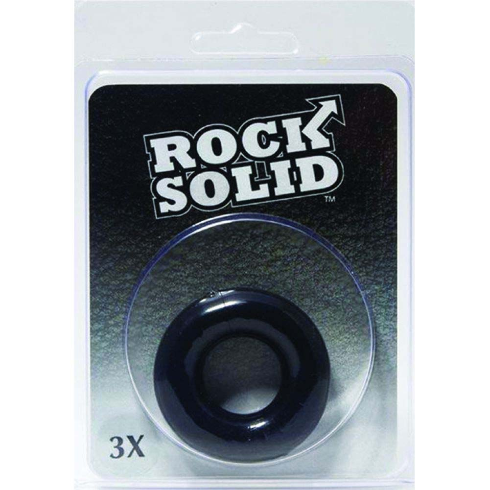 """Rock Solid 3"""" Black Donut Ring - View #1"""