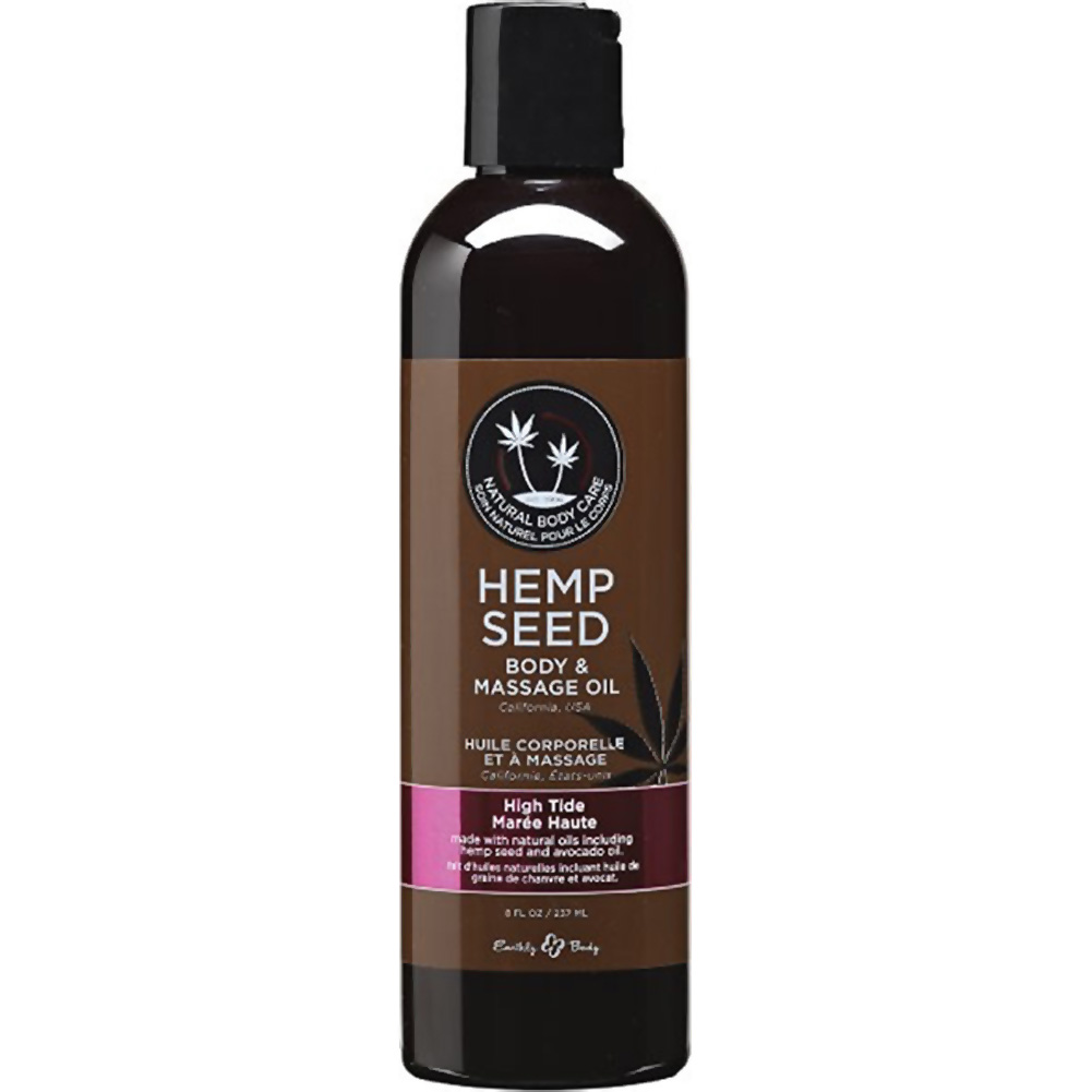 Earthly Body Hemp Seed Massage and Body Oil 8 Fl.Oz 237 mL High Tide - View #1