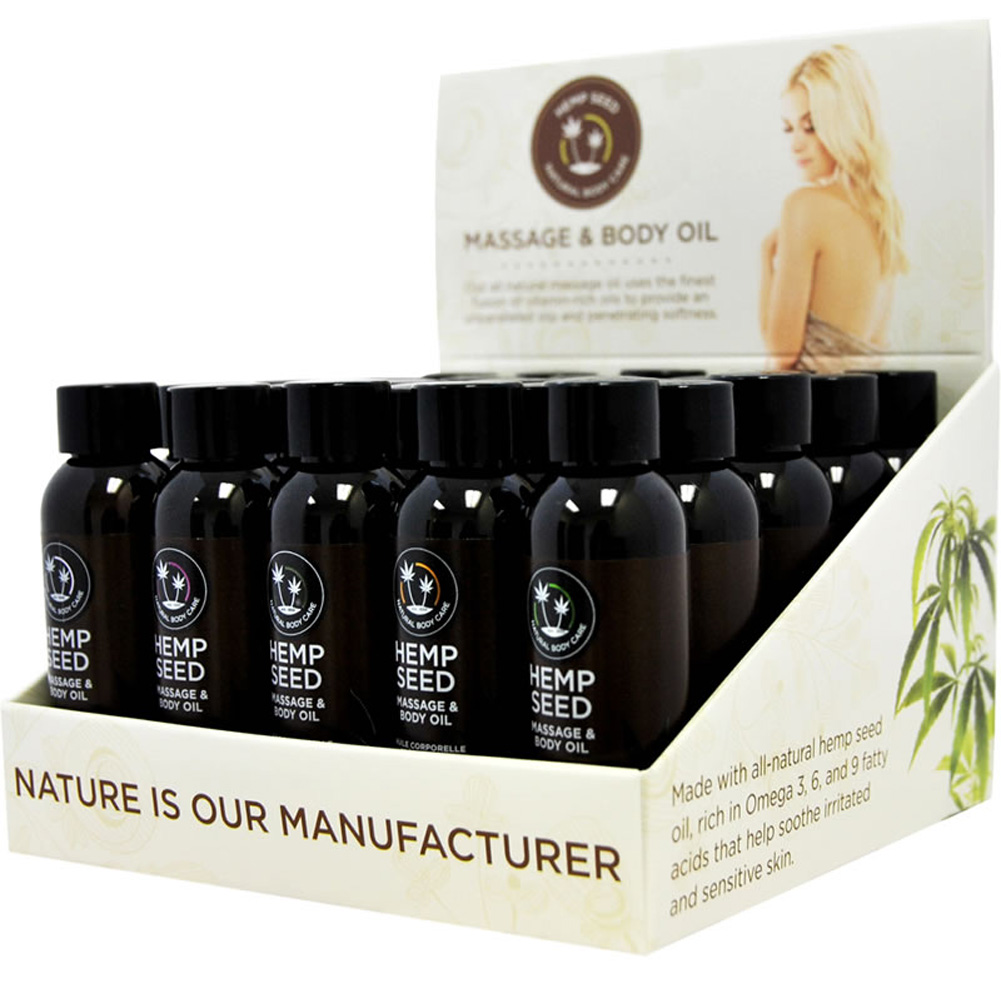 Earthly Body Massage Oil Counter Display 25 Piece 5 of 5 Flavors - View #2