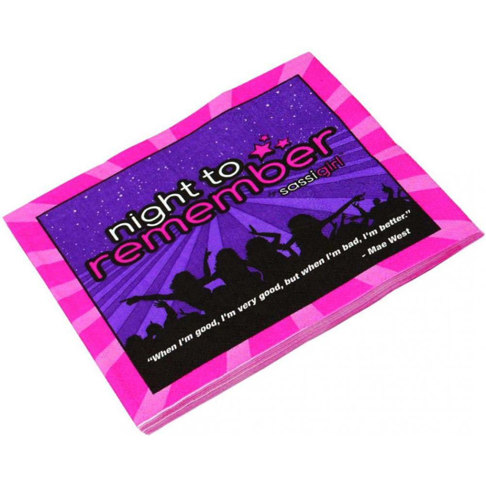 """Sassigirl Night to Remember Standard 6.5"""" Napkins Pack of 10 - View #2"""