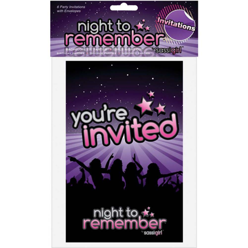 Night to Remember Party Invitations 6 Piece Pack by Sassigirl - View #1