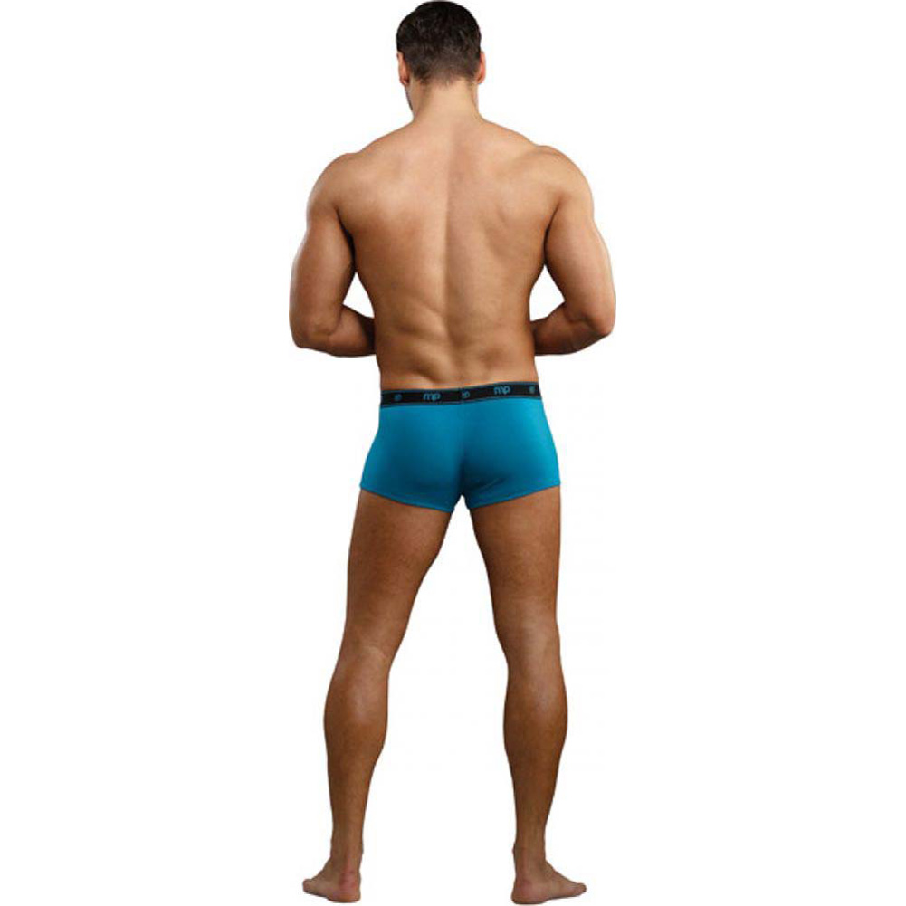 Male Power Bamboo Low Rise Pouch Enhancer Shorts Extra Large Teal - View #2