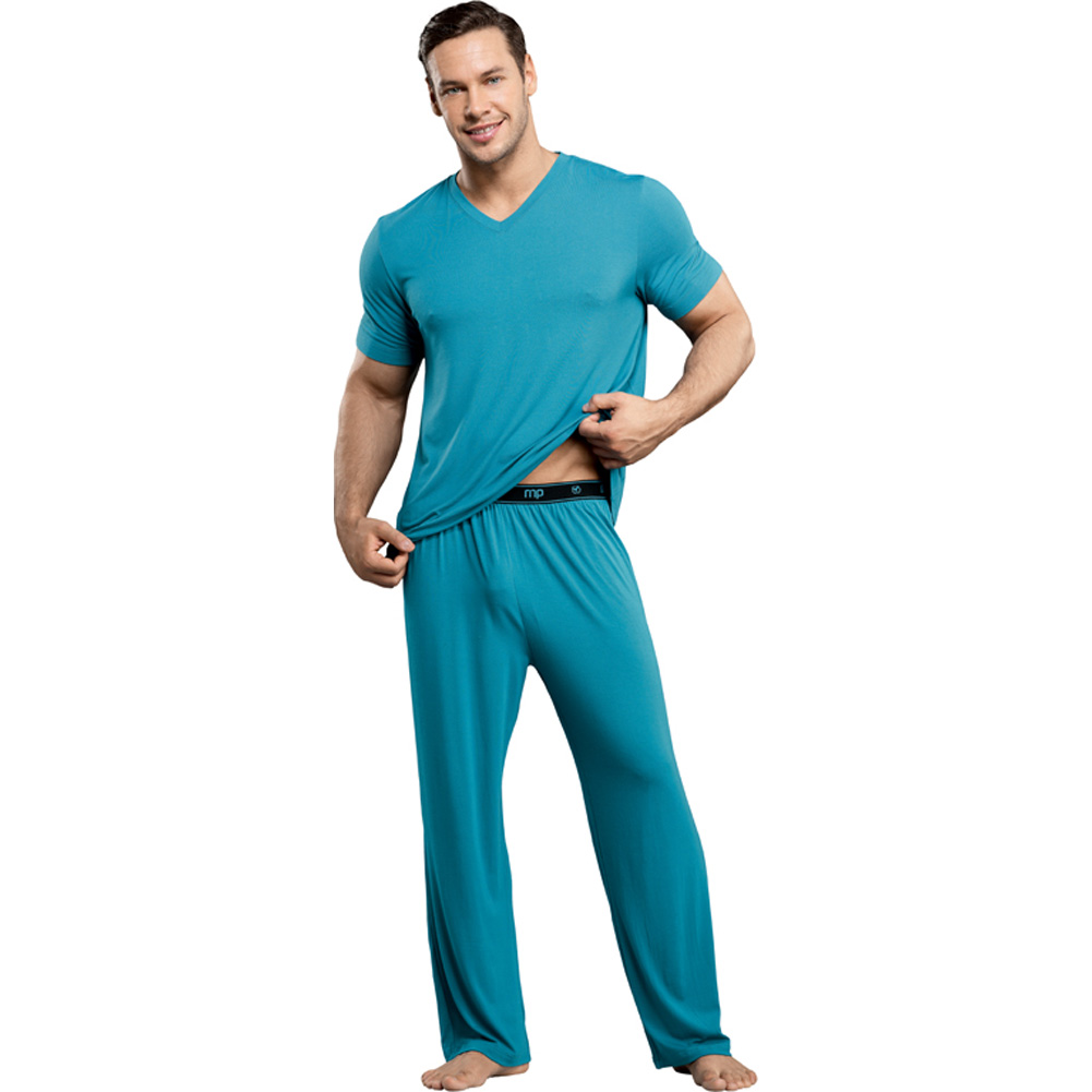 Male Power Premiere Bamboo Tee Shirt Extra Large Teal - View #3