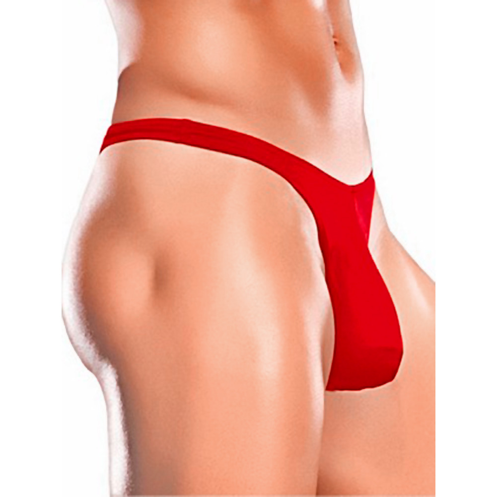 Male Power Bong Thong Small/Medium Red - View #1