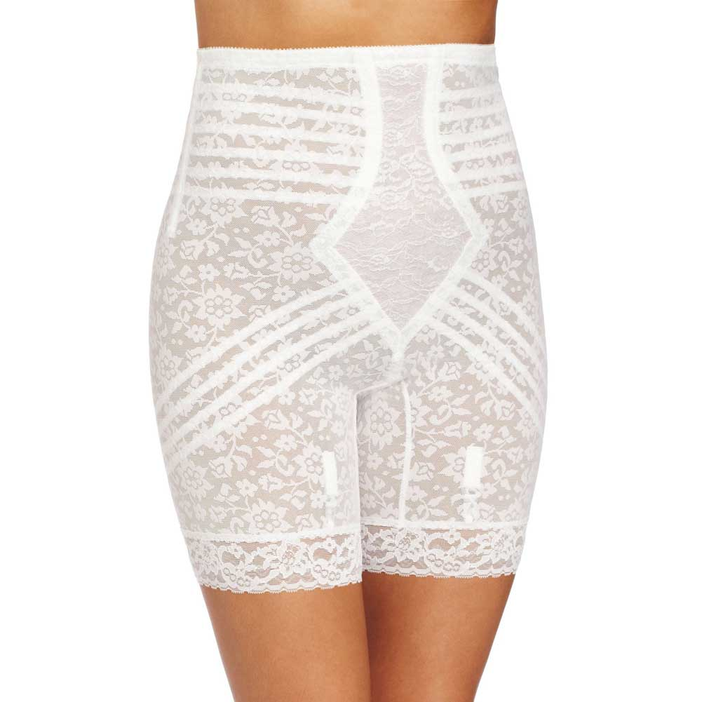 Rago Shapewear High Waist Long Leg Shaper 8X White - View #1