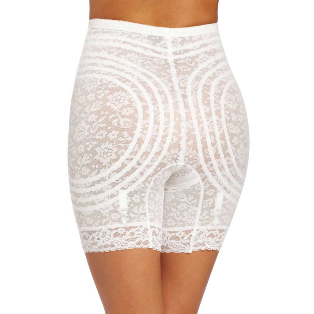 Rago Shapewear High Waist Long Leg Shaper 8X White - View #2