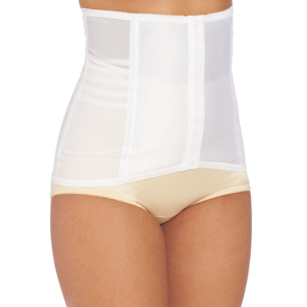Rago Shapewear High Waisted Waist Cincher Small White - View #1