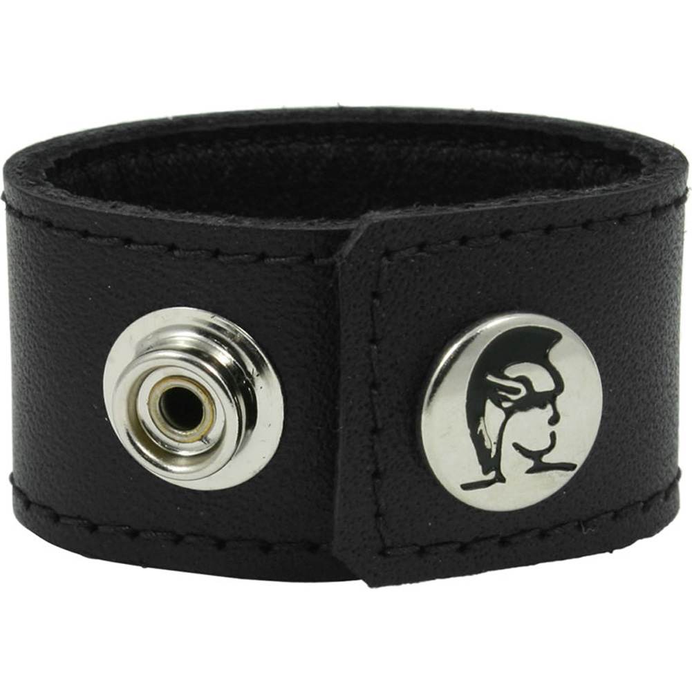 """Spartacus Leather Ball Stretcher with Snaps 1"""" Black - View #2"""