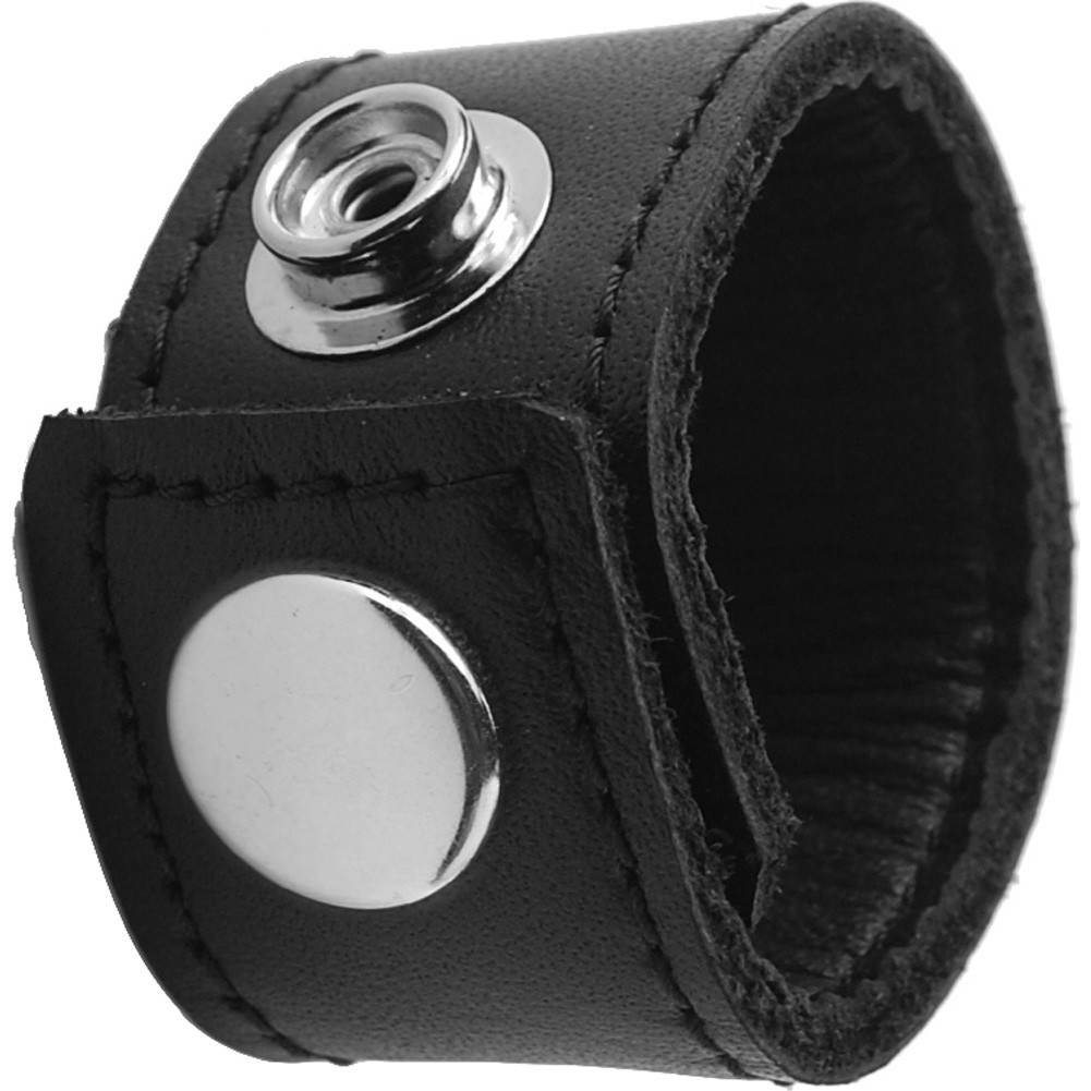 """Spartacus Leather Ball Stretcher with Snaps 1"""" Black - View #3"""