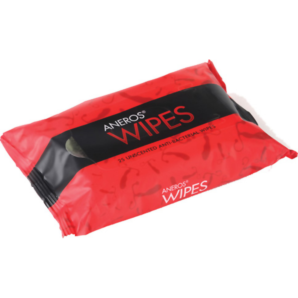 Aneros Anti Bacterial Wipes Pack of 25 - View #1