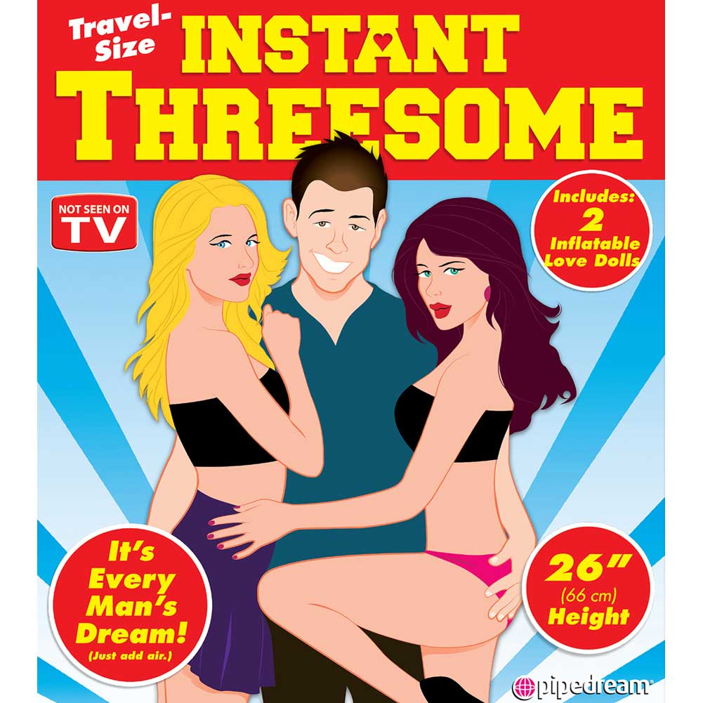 "Pipedream Travel Size Instant Threesome Blow Up Doll Kit 2 Dolls 26"" Each - View #2"