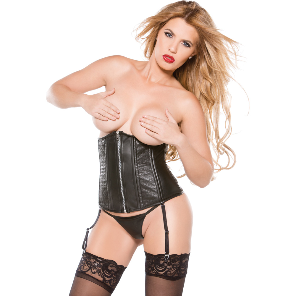 Faux Leather Cincher Black Small - View #1