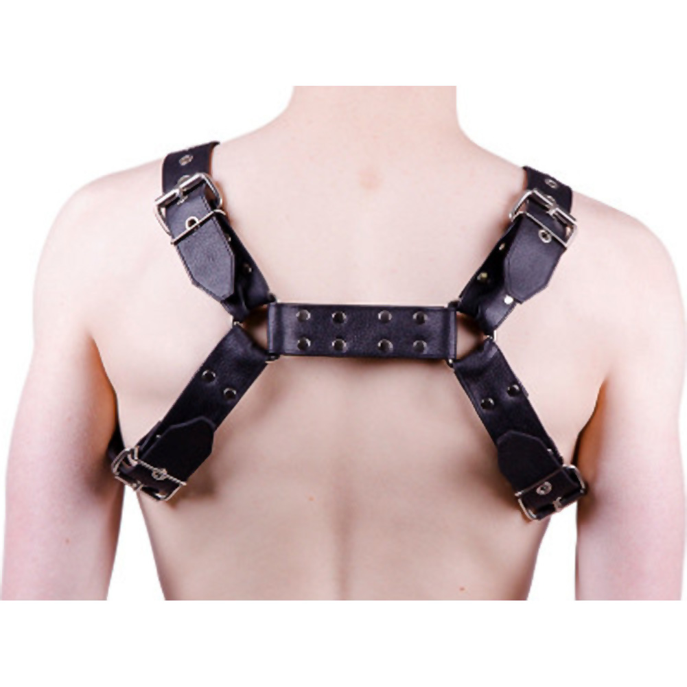 Rouge Over the Head Harness Medium Black - View #1