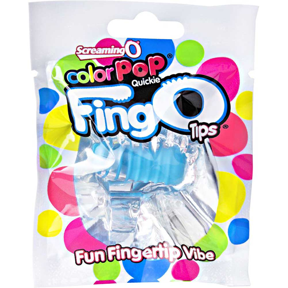 Screaming O Color Pop Fingo Tip Vibrator One Size Blue - View #1