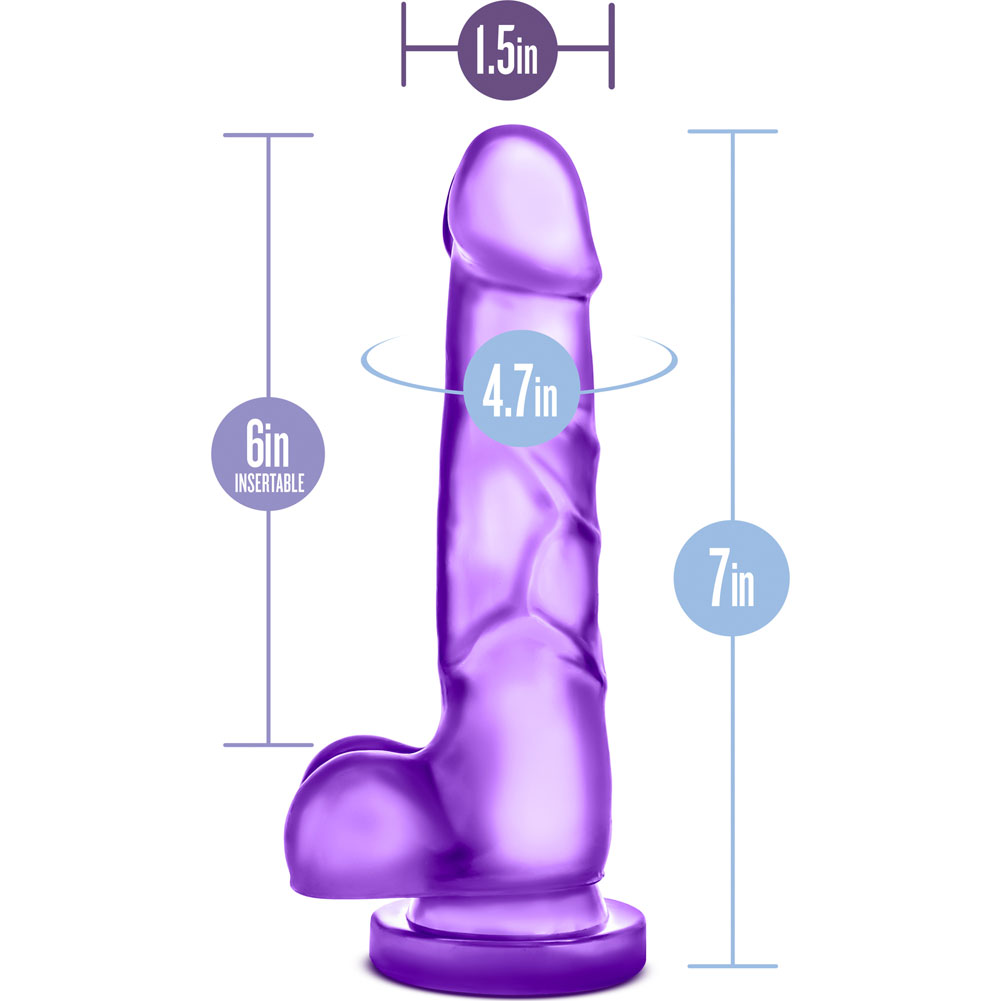 "Blush B Yours Sweet N Hard No 4 Dildo with Suction Cup 7.75"" Purple - View #1"