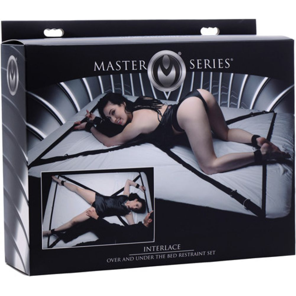 Master Series Interlace Over Under the Bed Restraint Bondage Kit Black - View #1