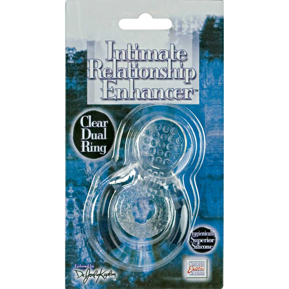 CalExotics Intimate Relationship Enhancer Cock and Ball Ring Crystal Clear - View #1