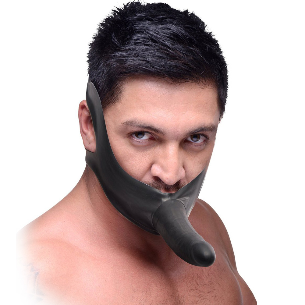 """Master Series Face Fuck Face Strap-On 5.5"""" Black - View #2"""