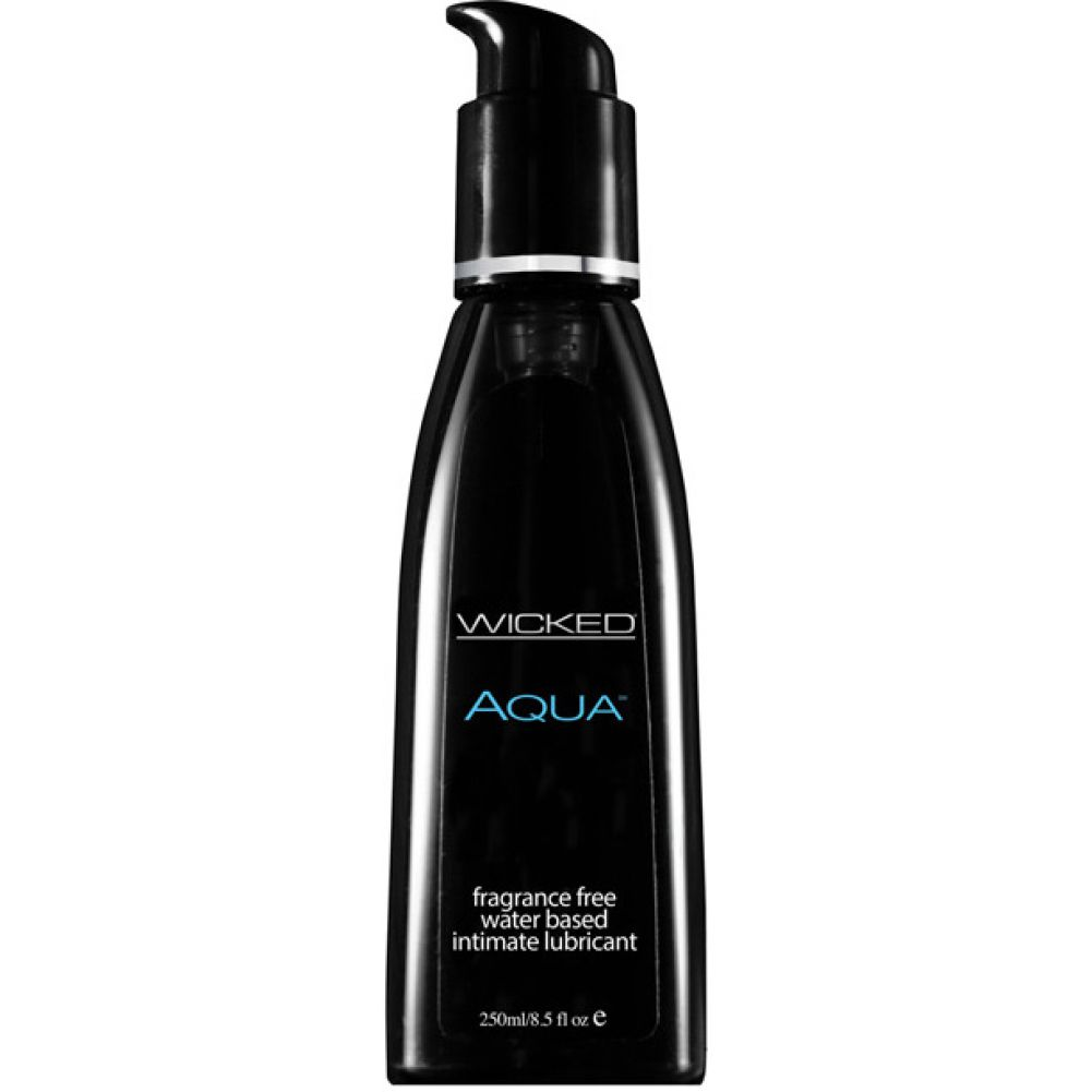 Wicked AQUA Water Based Lubricant 8.5 Fl.Oz 250 mL Fragrance Free - View #1