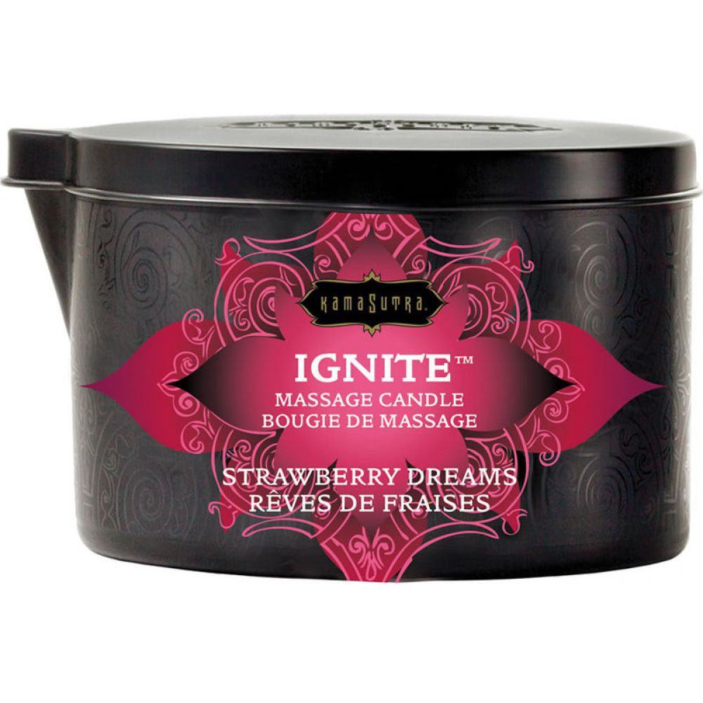 Ignite Massage Candle by Kama Sutra 6 Oz 170 G Strawberry Dreams - View #1
