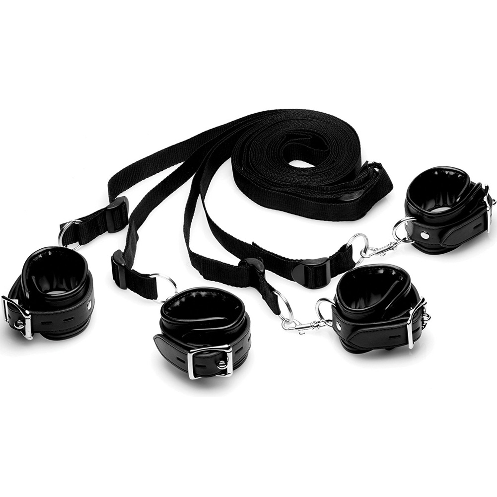 STRICT by XR Brands Bed Restraint Kit Black - View #2