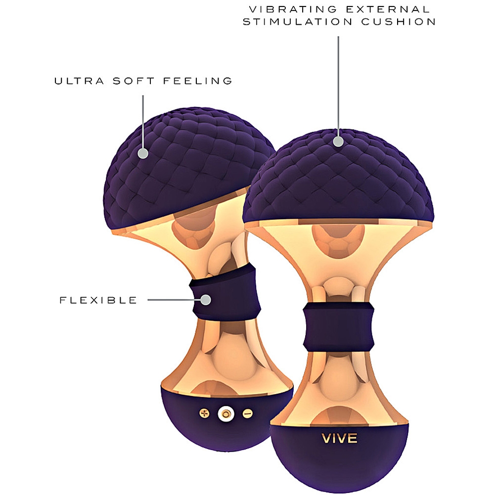 """VIVE Enoki Rechargeable Intimate Mini Massager 4.75"""" Purple - View #1"""