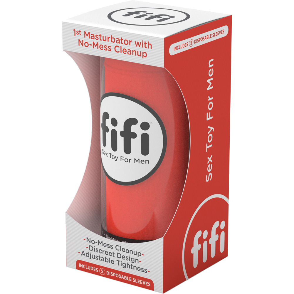 Fifi Sex Toy Stroker for Men with Disposable Sleeves Fire Red - View #1