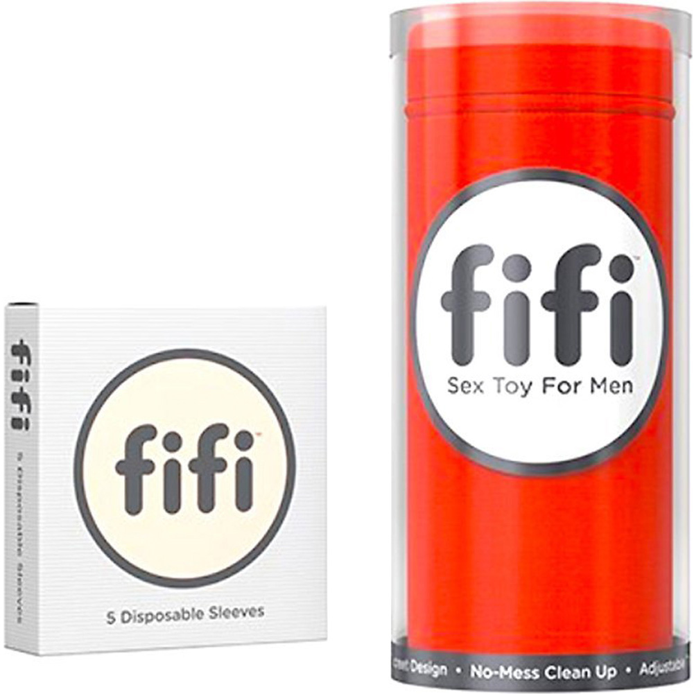 Fifi Sex Toy Stroker for Men with Disposable Sleeves Fire Red - View #4