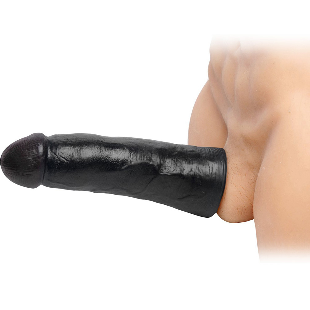 "SexFlesh 2.5"" Extra Length Sexflesh Penis Extension 9"" Black - View #1"