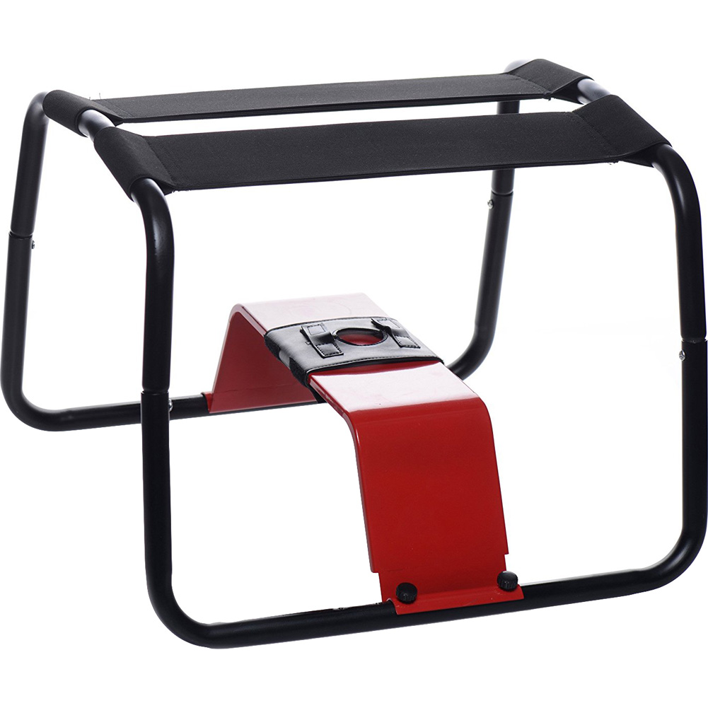 Love Botz Bangin Bench Extreme Sex Stool Black and Red - View #3