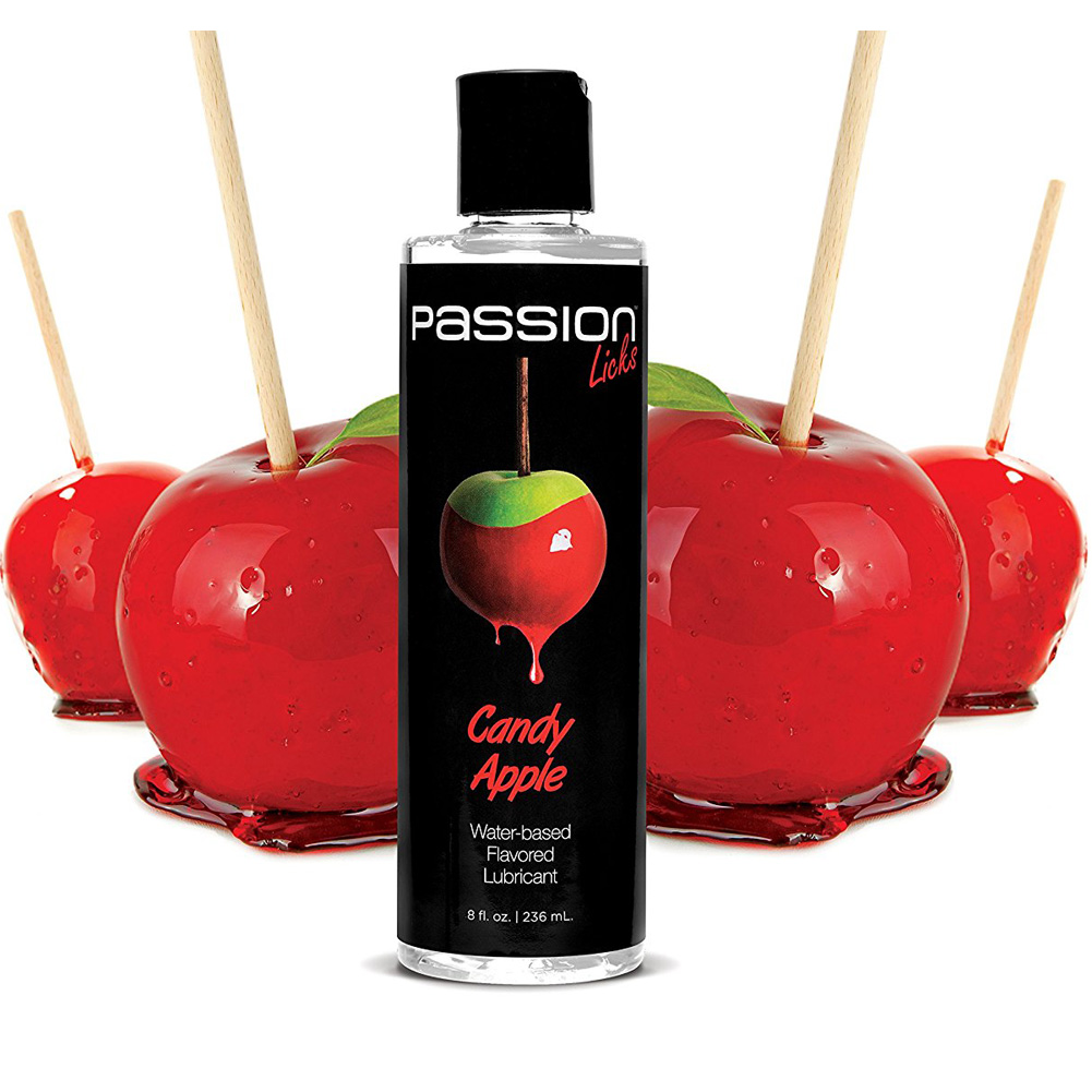 Passion Licks Water Based Flavored Lubricant 8 Fl.Oz 236 mL Candy Apple - View #1