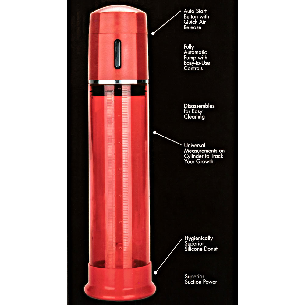 "Optimum Series Advanced Firemans Pump 8.25"" by 2.75"" Red - View #1"