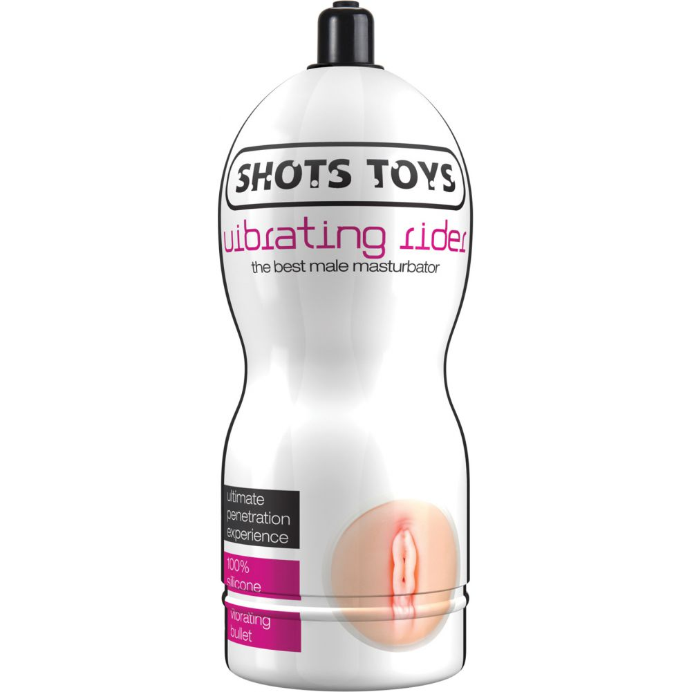 "Vibrating Rider Pussy Stroker by Shots Toys 7"" Ivory - View #1"