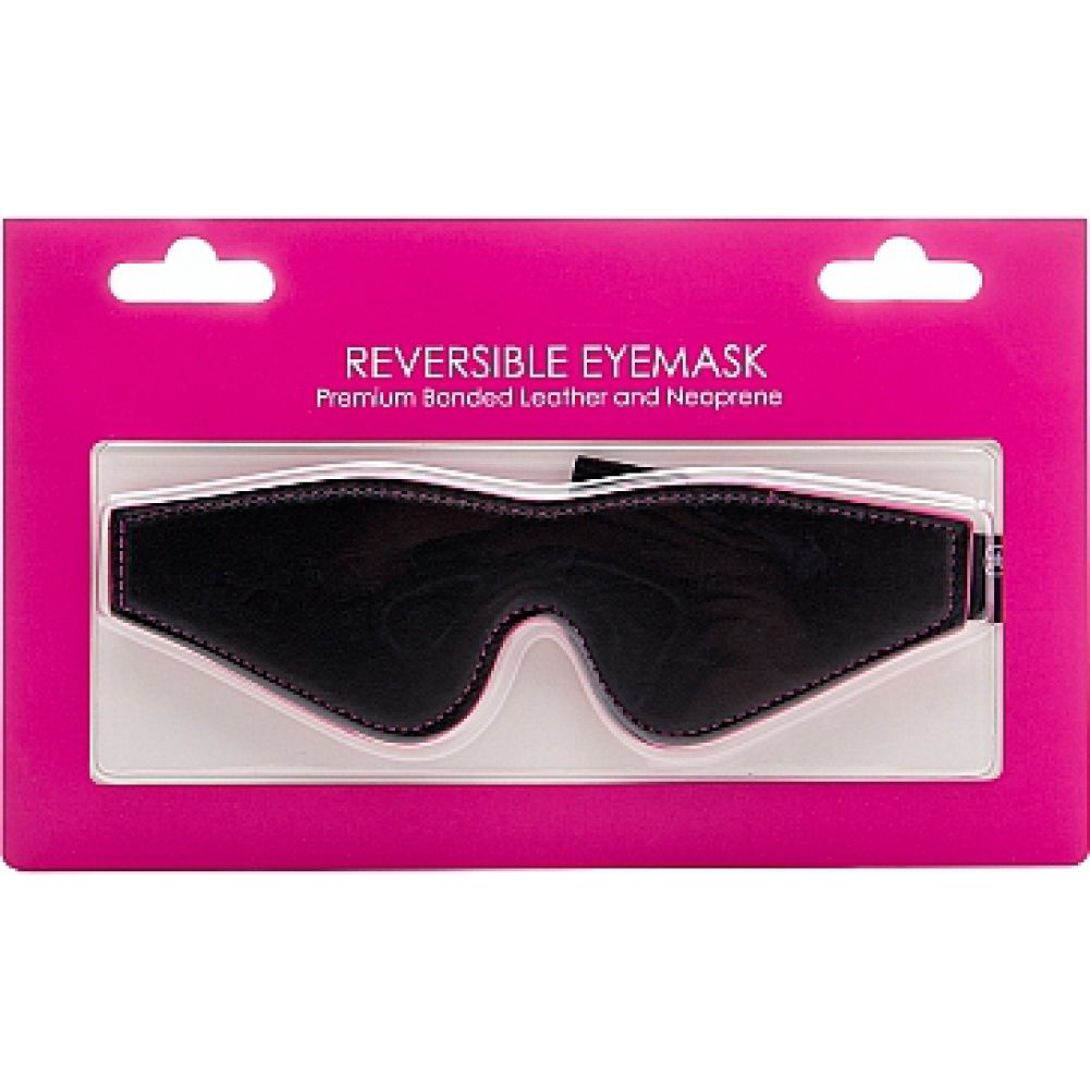 Ouch Reversible Eyemask for Naughty Pleasure One Size Black/Kinky Pink - View #1