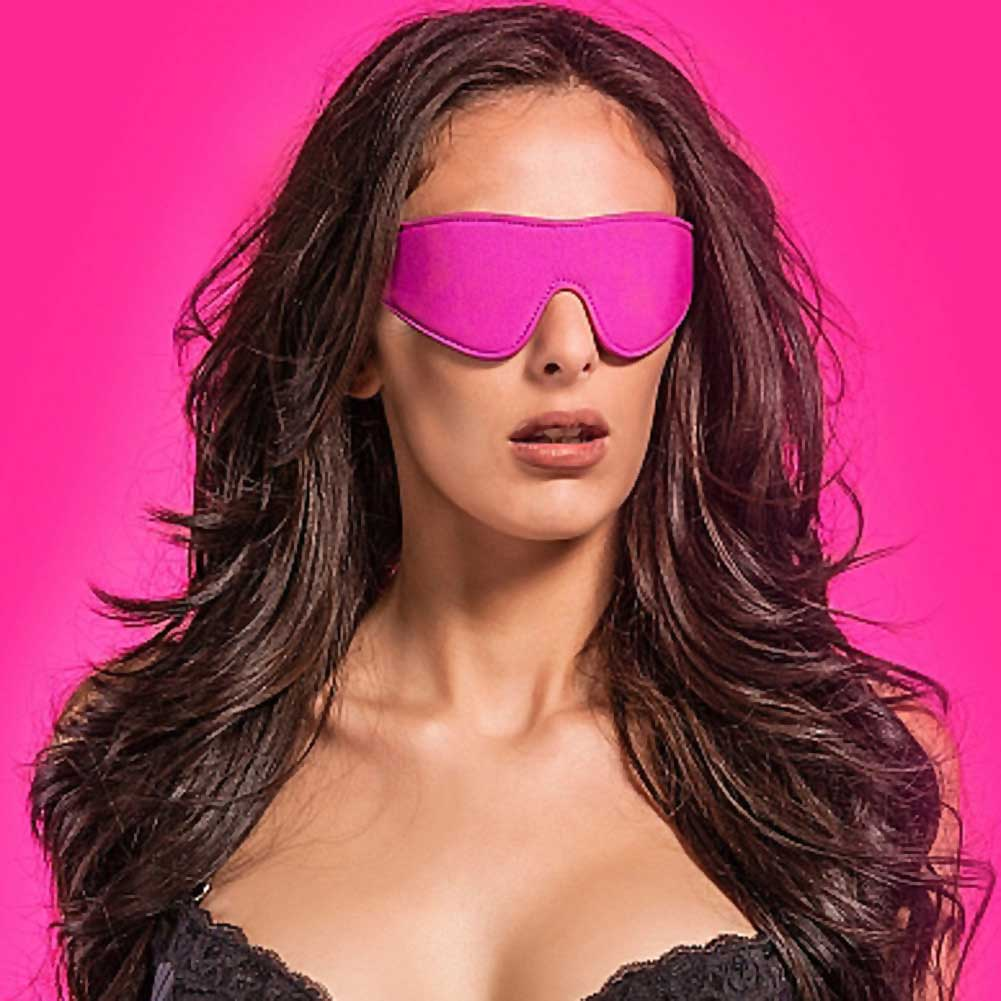 Ouch Reversible Eyemask for Naughty Pleasure One Size Black/Kinky Pink - View #2