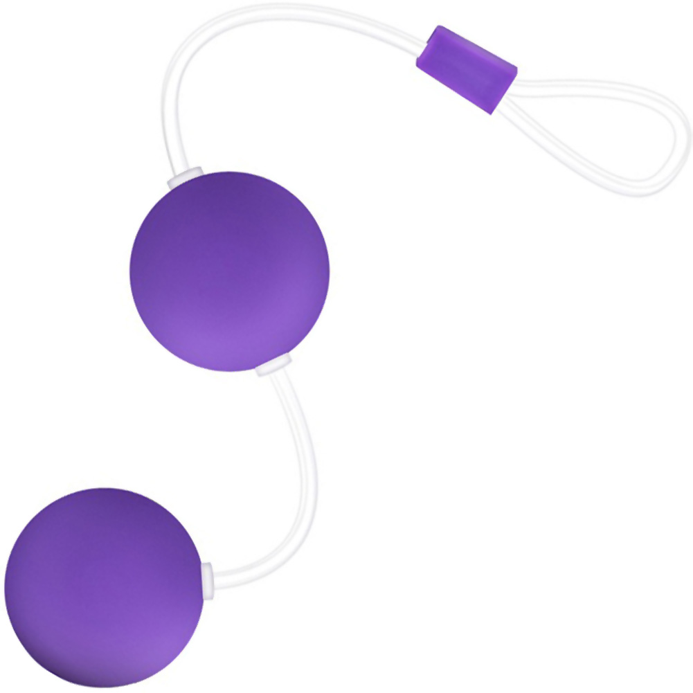 "Be Yours Bonne Beads Weighted Kegel Balls 4.25"" Purple - View #3"