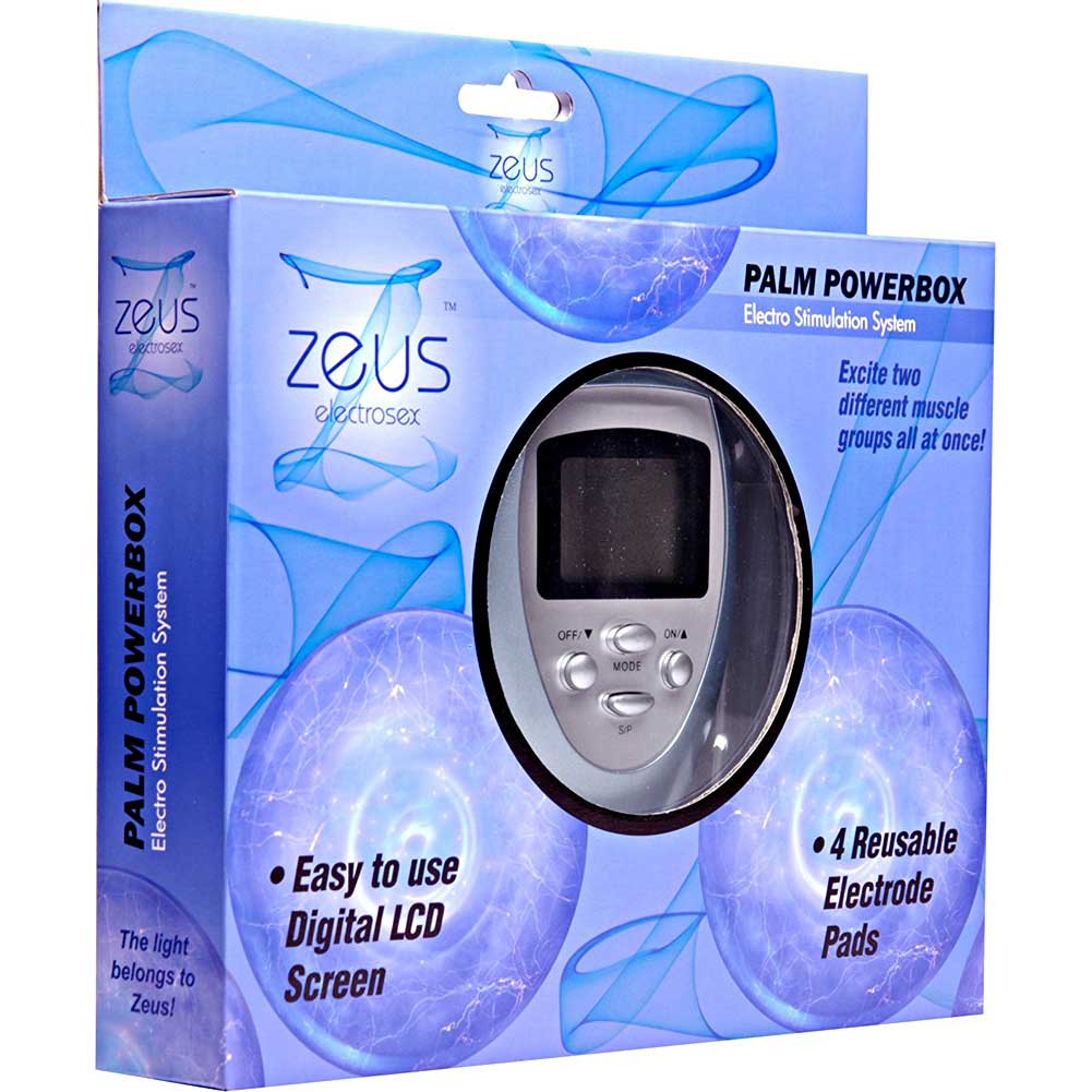 Zeus ElectroSex Palm PowerBox Electro Stimulation System with 4 Pads - View #1