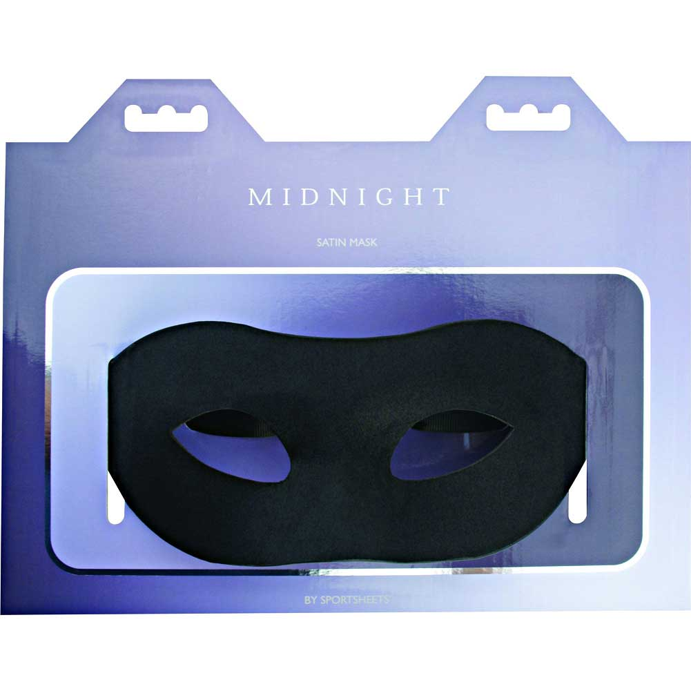 Midnight by Sportsheets Satin Mask One Size Black - View #1