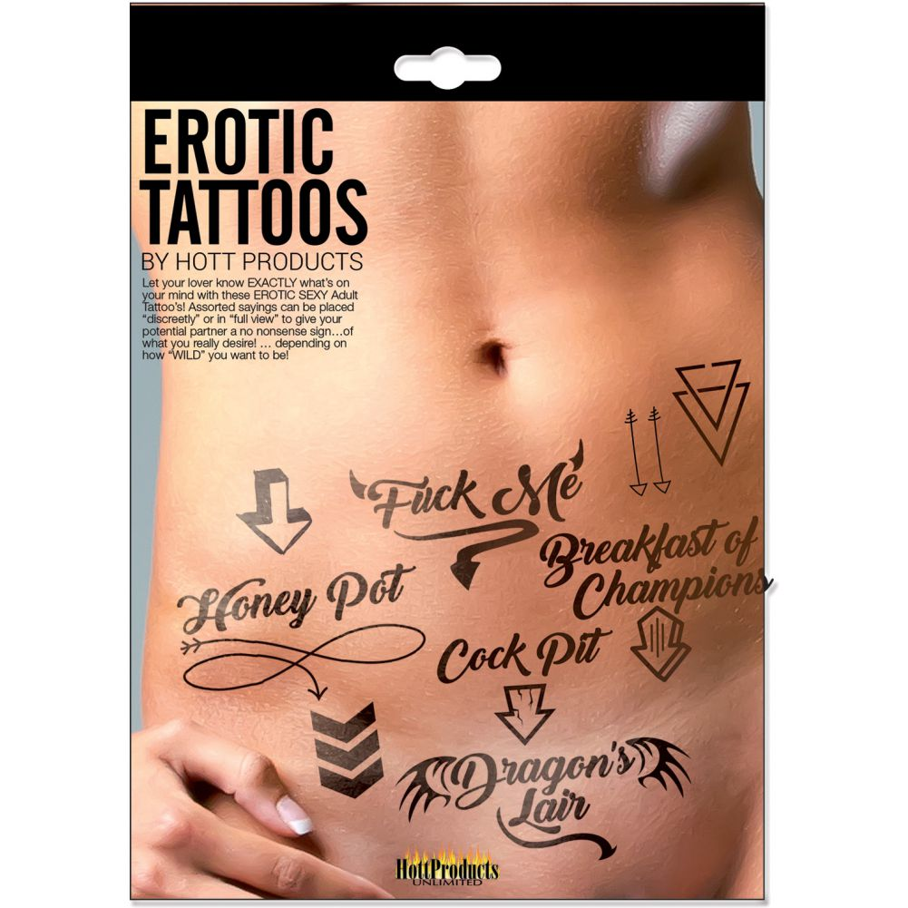Hott Products Erotic Tattoos Assorted Pack Black - View #1