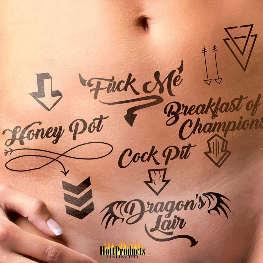 Hott Products Erotic Tattoos Assorted Pack Black - View #2