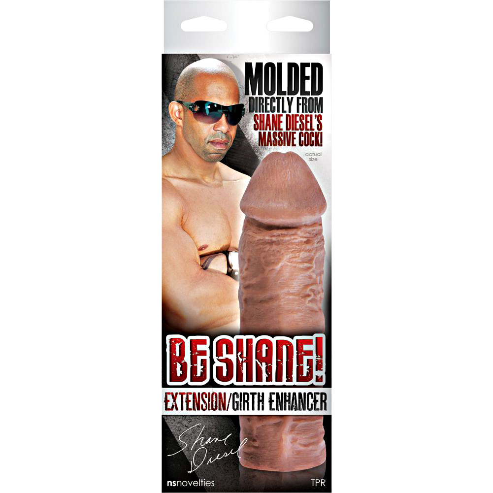"""2"""" Extra Length Super Thick Penis Extension 8"""" Brown - View #3"""
