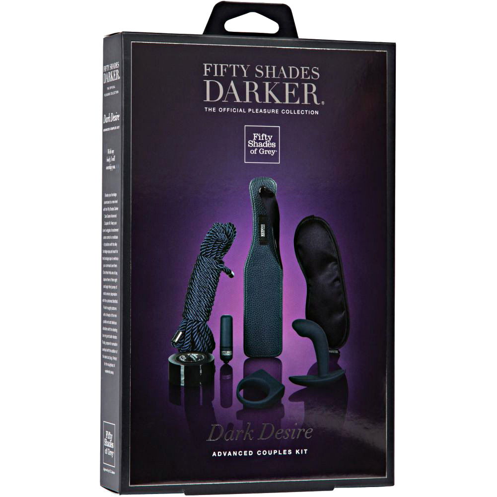 Fifty Shades Dark Desire Advanced Couples Kit 7 Piece Black - View #1
