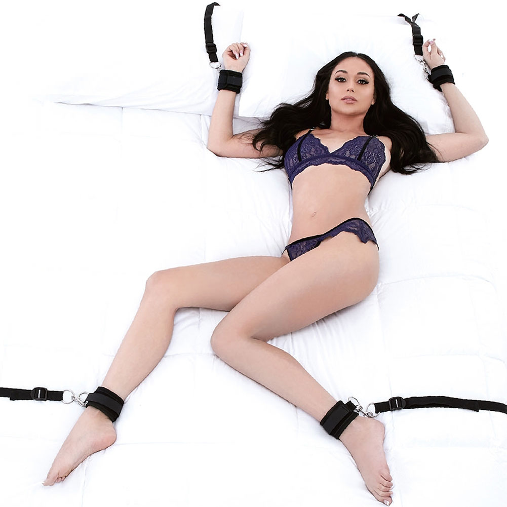 Lux Fetish Bed Spreader for Lovers Black - View #2