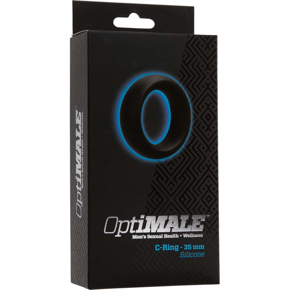 OptiMALE Silicone C-Ring 35 Mm Thick Black - View #1