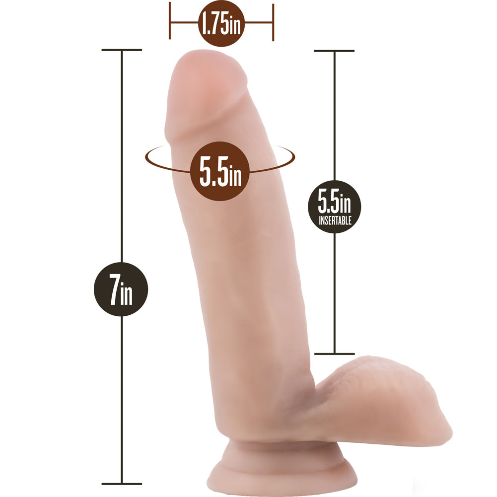 "Blush Loverboy Surfer Dude Dildo Cock with Suction Cup 7"" Flesh - View #1"